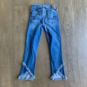American Eagle Frayed Hem Jeans